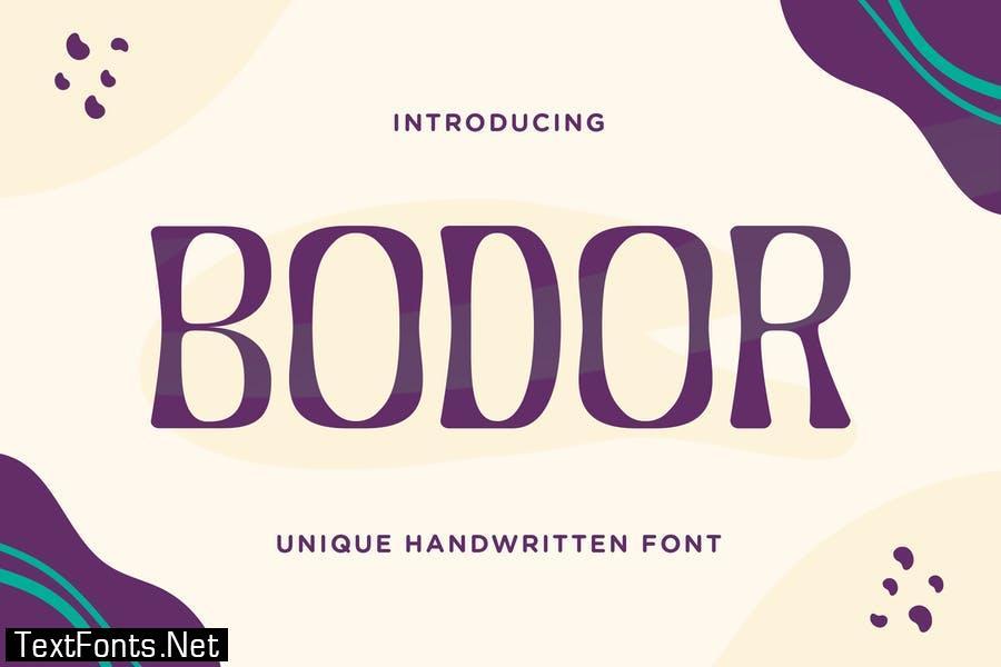 Bodor – Unique Handwritten Font