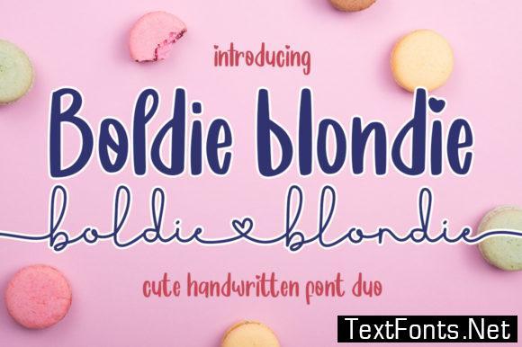 Boldie Blondie Font