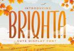 Briqhta - Display Handwriting Font