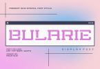 Bularie Stencil Font