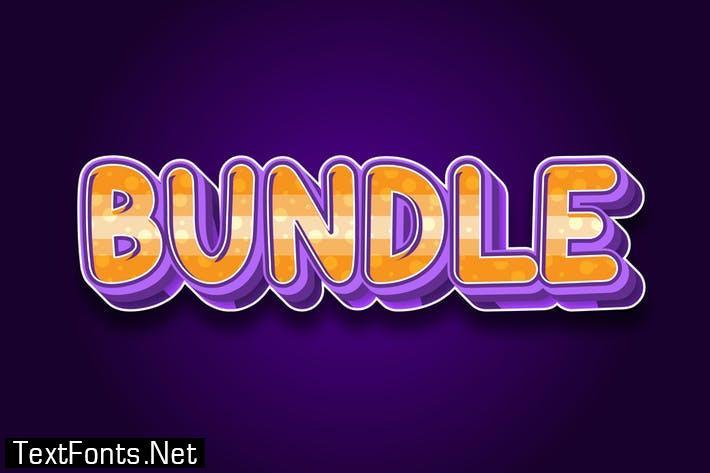 Bundle 3d text effect
