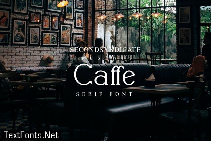 Caffe - serif font