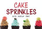 Cake Sprinkles - Cute Display Font