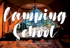 Camping School Font
