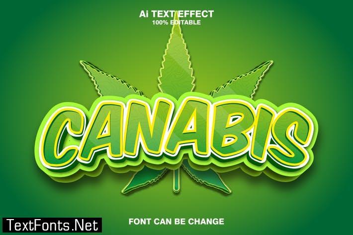 canabis 3d text effect