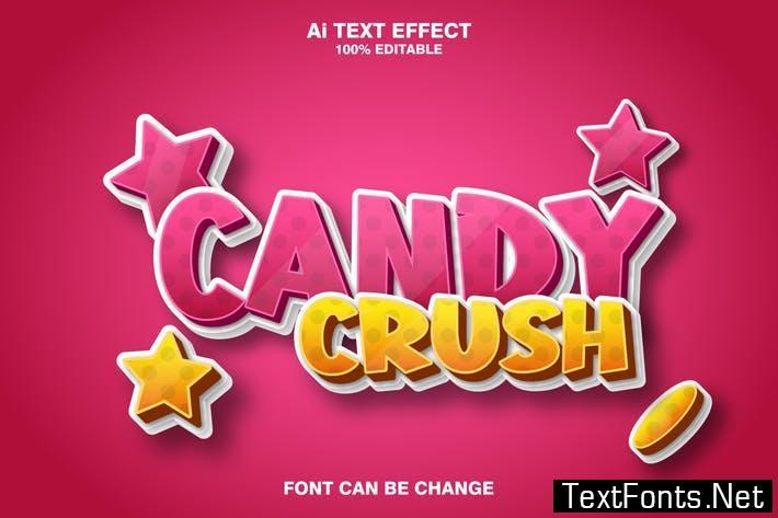 candy crush 3d text effect