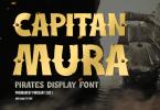 Capitan Mura - pirate display font