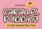 Caramel Pudding Font
