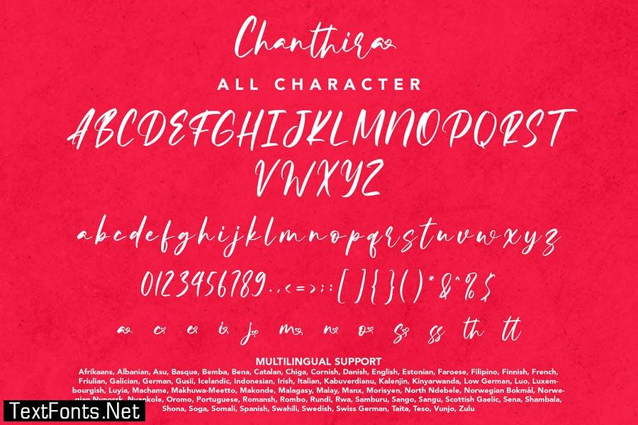 Chanthira - Valentine Display Font