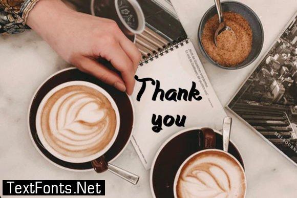 Chocolate Coffee Font