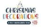 Christmas Decorations Font