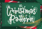 Christmas Pattern Font