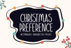 Christmas Preference Font