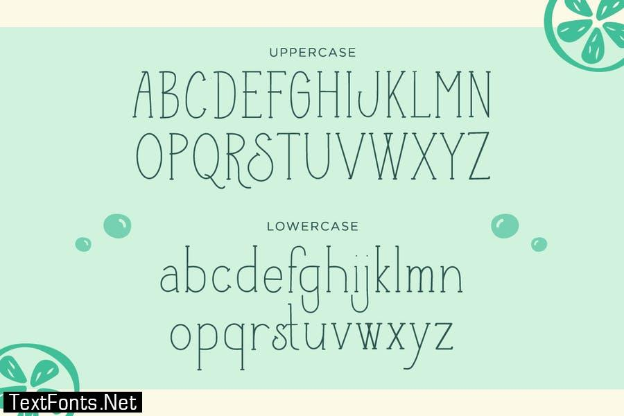 Cider Lime – Handwritten Font