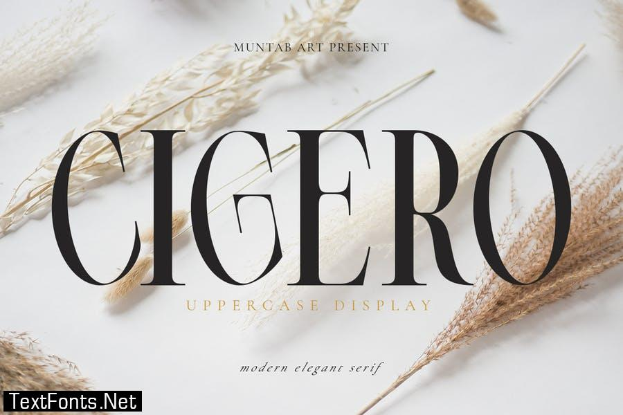 Cigero | Modern Serif