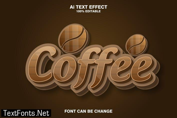 coffee 3d text effect TC2BRED