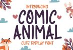 Comic Animal - Cute Handwriting Display Font