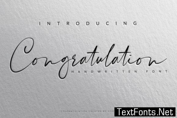 Congratulation Font