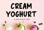 Cream Yoghurt - Cute Display Font