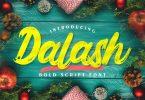 Dalash | Bold Script Font