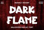 Dark Flame - Halloween Display Font