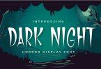 Dark Night - Horror Display Font