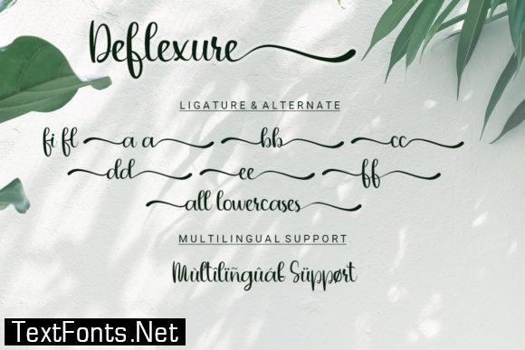 Deflexure Font
