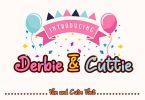 Derbie & Cuttie - Fun and Cute Font