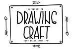 Drawing Craft - Cute Drawing Display Font