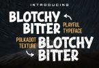 DS Blotchy Bitter - Playful Typeface