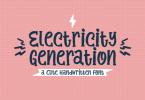 Electricity Generation Font