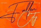 Fallen City Signature Font