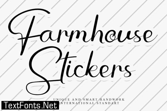 Farmhouse Stickers Font