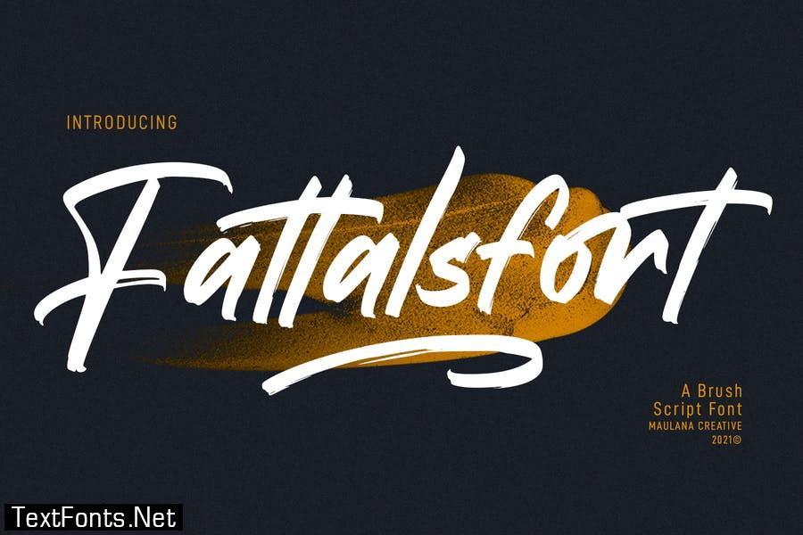 Fattalsfort Handwritten Brush Font