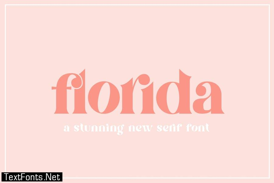 Florida Serif Font