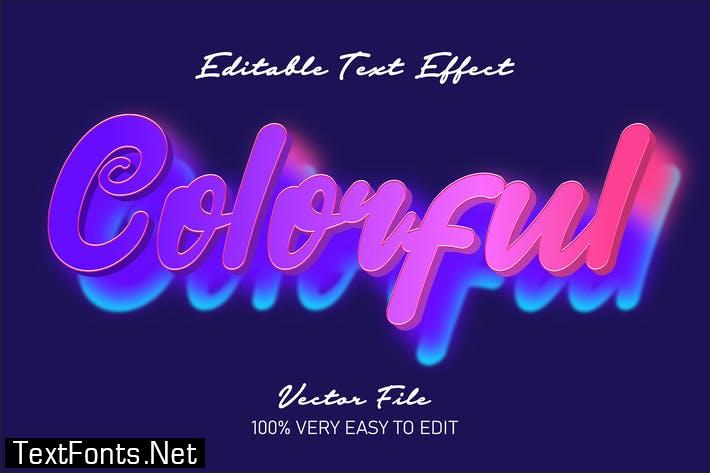 Fresh colorful text effect