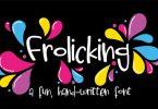 Frolicking Font