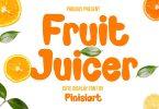 Fruit Juicer - cartoon font
