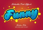 Funny playful 3d text effect