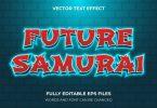 future samurai 3d text effect