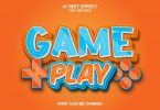 game play 3d text effect