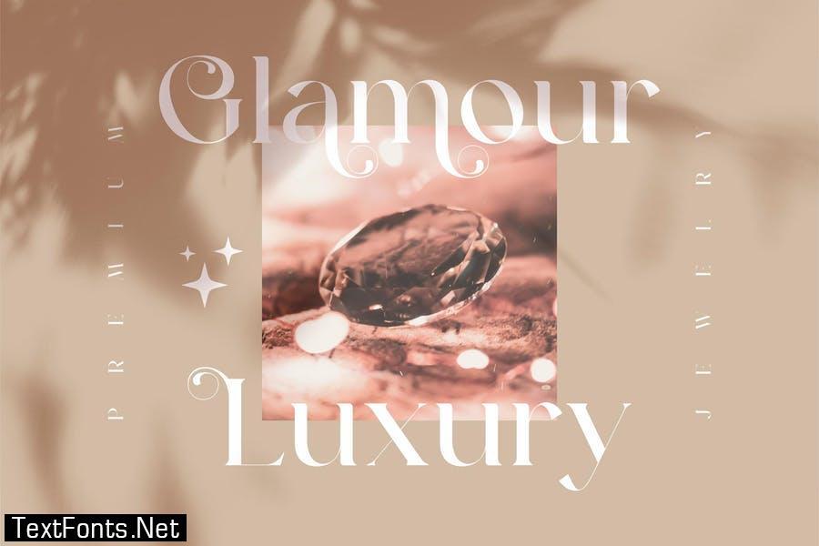 Glamour Karlina Beautiful Serif Font LS