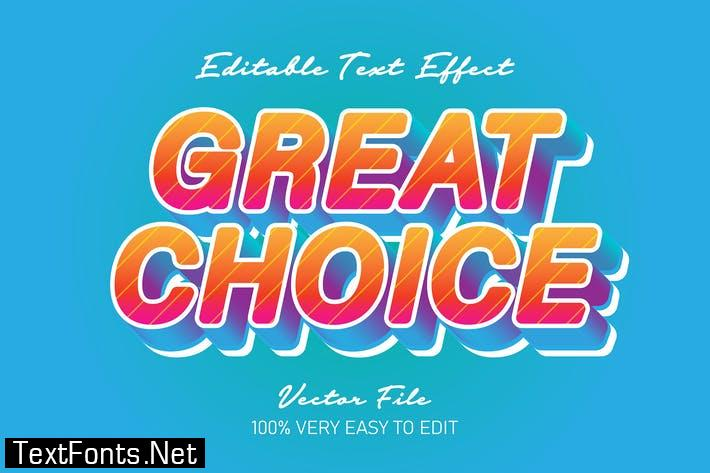 Great choice 3d text effect
