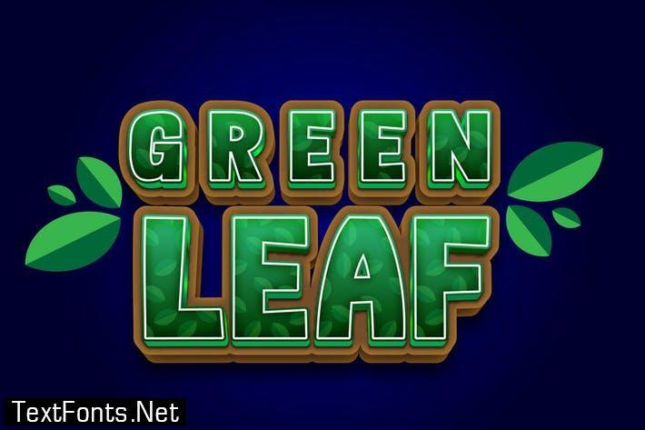 Green Leaf 3d Text Effect