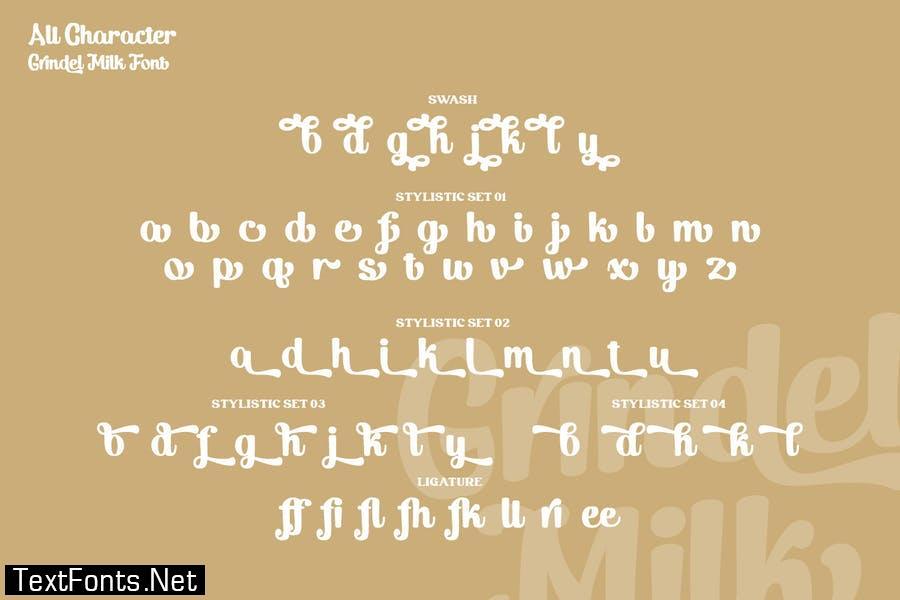 Grindel Milk Font