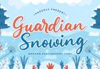 Guardian Snowing Font