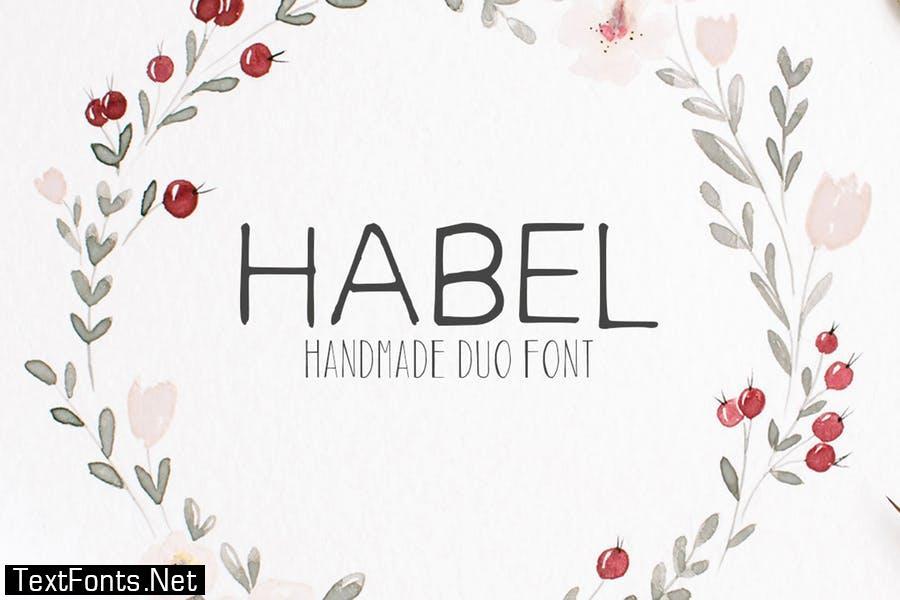 Habel Duo Handmade Font