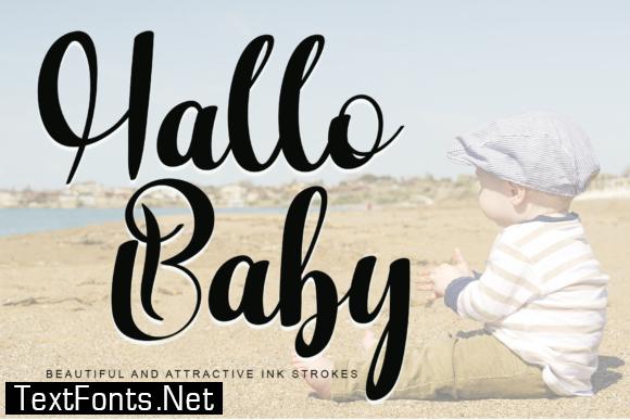 Hallo Baby Font