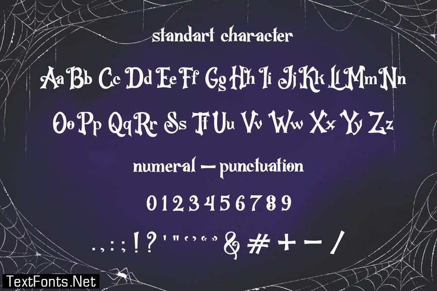 Hallo WitchZ - Halloween Display Font