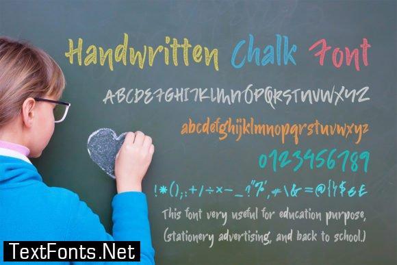 Handwritten Chalk Font
